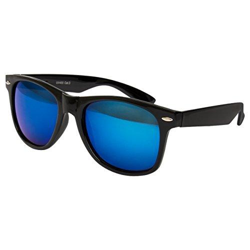 Ciffre Blau Schwarz de mujer para Verspiegelt sol Gafas xzrwAnS1x