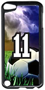 Soccer Sports Fan Player Number 11 Black Plastic Decorative iPod iTouch 5th Generation Case