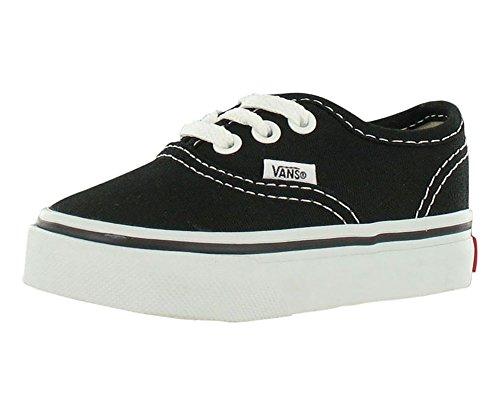 Vans Kids' Authentic-K, Black/True White, 7 M US Toddler -