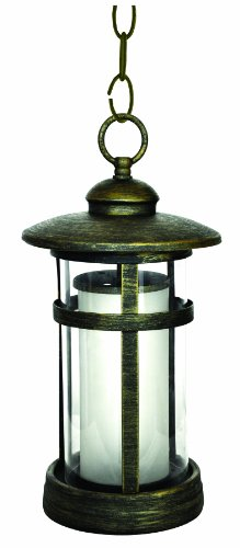 Cast Aluminum Round Glass - Park Madison Lighting PMO-979-20 1 Light Cast Aluminum Outdoor Hanging Fixture with Round Frosted Glass with Bronze Finish, H=15