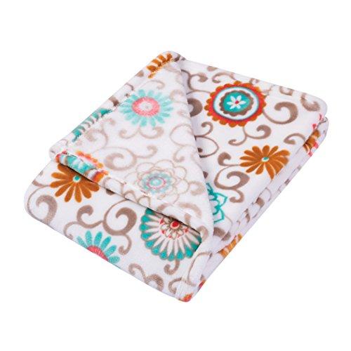 Plush Play Blanket (Trend Lab Plush Baby Blanket, Multi Waverly Pom Pom Play)