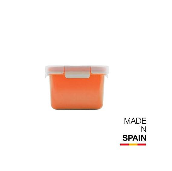 Valira Porta alimentos - Contenedor hermético de 0,4 L hecho en España, color naranja