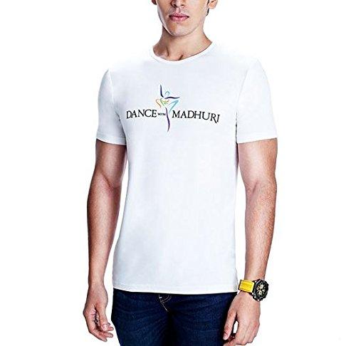 58e788ee66f Madz Men s Cotton T-Shirt (MDz-COL-RON-WHT White XX-Large)  Amazon ...