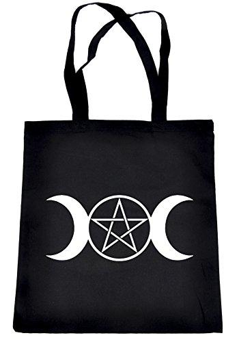- Triple Goddess Moon Pentagram Tote Bag Wicca Neopagan Symbol Clothing Book Bag