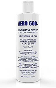 AERO 600 Collector & Show Car Cleaning Liquid Concentrate: Premium Car Wash Liquid For Vintage and Exotic and Show Cars