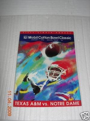 (Texas A&M Vs. Notre Dame Cotton Bowl Program 1-1-94)