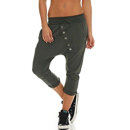 Stretch Taille Femme Couleur Verte Pantacourt ShallGood Pantalon Casual 7 Harem Shorts Lche Haute Pilates Yoga Court Capri Unie 8 Arme Pantalons wXCqx4d