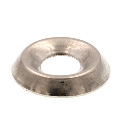 Prime-Line 9083825 Finishing Washers, Countersunk, #10, Nickel Plated Steel, 100-Pack -
