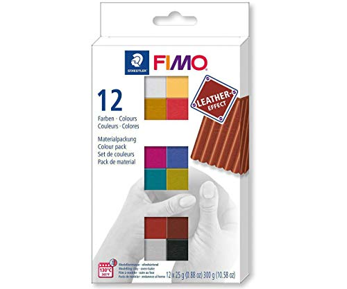 - FIMO Leather Effect Set of 12 Paint Colors 25g, 8013 C12-2