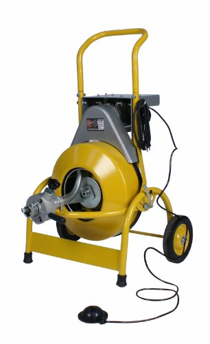 Steel Dragon Tools 1000 Drum Drain Sewer Pipe Line Cleaning Machine with Auto Feed fits RIDGID Cutters 1/2