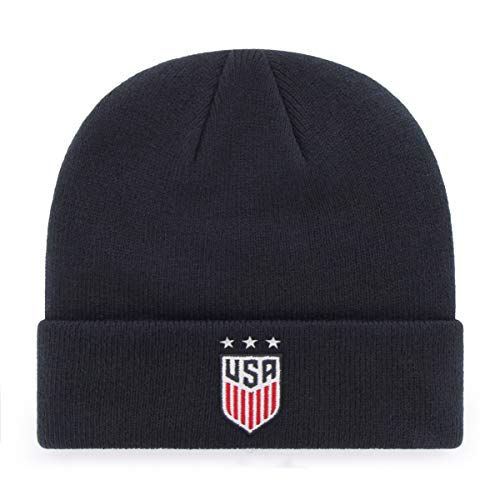 OTS World Cup Soccer Men's Raised Cuff Knit Hat, U.S. Women's Soccer Team, Star Logo, One Size