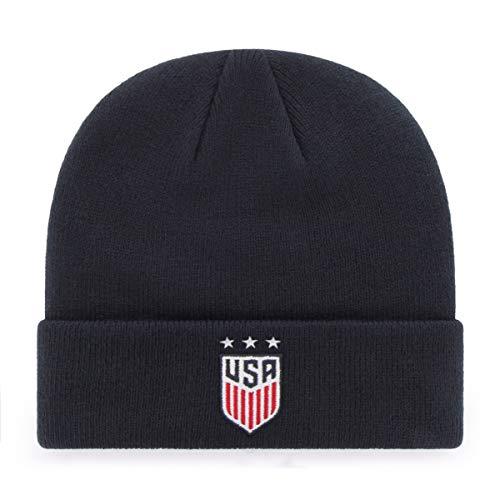 U.S. Soccer Women's National Team Men's OTS Raised Cuff Knit Hat , Star Logo, One Size