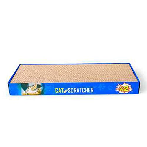 I will take action now 2 pieces pet cat large corrugated paper cat scratch board, flat two-piece combination claw dog toy, cat sleeping to play two-in-one bed, send catnip, pet scraper large space bow