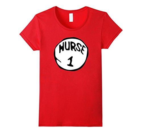 Women's Nurse 1 Funny RN Holiday Halloween Costume Nurses T-Shirt XL Red (Funny Nurse Costumes)