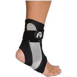 Aircast A60 Ankle Support Brace, Left Foot, Black, Medium (Shoe Size: Men's 7.5 - 11.5 / Women's 9 - 13)
