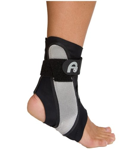 Aircast A60 Ankle Support Brace, Left Foot, Black, Medium (Shoe Size: Men