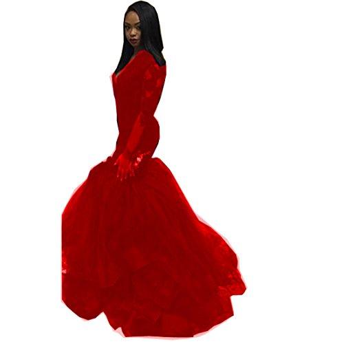 issa red long dress - 2