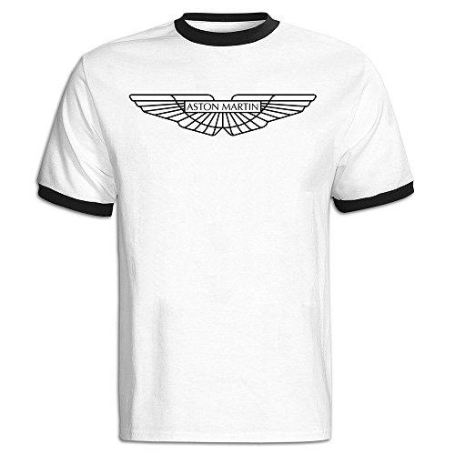 Men's Aston Martin Logo Baseball Tee Shirt Black