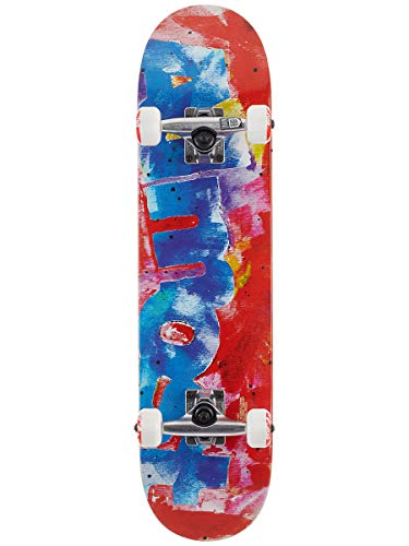 Almost Color Bleed Red Mid Complete 7.25 x 29.2 (Red Skateboard Complete)