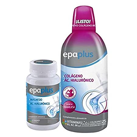 Epa Plus - Drinkable Collagen Pack 25 Days Gift Magnesium/Hyaluronic 28 Tablets, Color Raspberry: Amazon.es: Deportes y aire libre