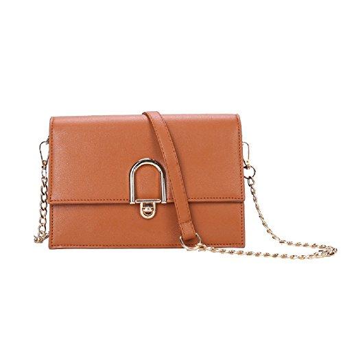 Shoulder Leather Tote Bag Pink Bag Zhrui Leather Color Bag Woman Elegant Shoulder Brown nqBfU4Ox