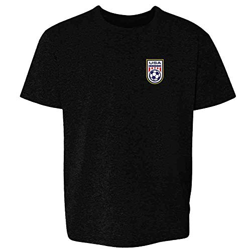 USA Soccer Retro National Team Jersey Black 6 Toddler Kids T-Shirt