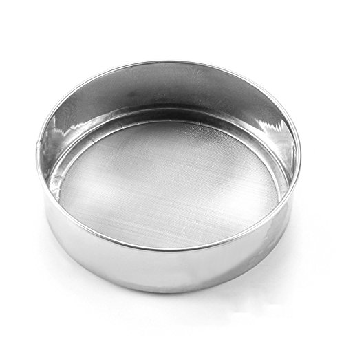 Happy Hours® Dia 15cm * 4.5cm Depth Party Supplies Stainless Steel 60 Mesh Rice Flour Sieve Fine Icing Sugar Powder Shaker Kitchen Baking Pastry Mesh Sifter