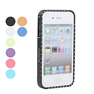 Diamond Protective Case with Metal Frame for iPhone 4 and 4S (Assorted Colors) , Purple