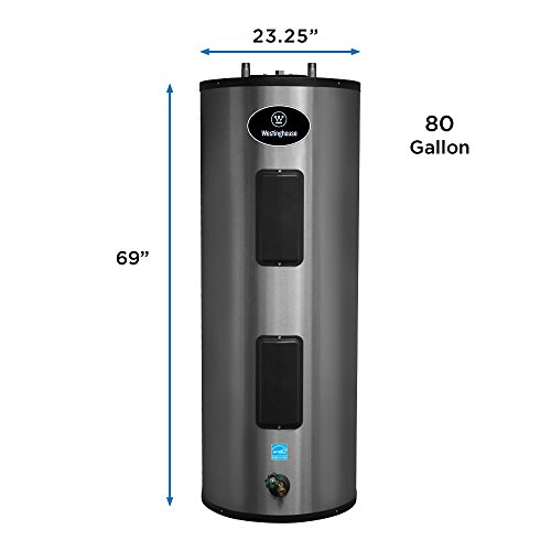 Westinghouse 80 Gal. 4500W Lifetime Warranty Electric Water Heater with durable 316L Stainless Steel Tank by Westinghouse (Image #1)