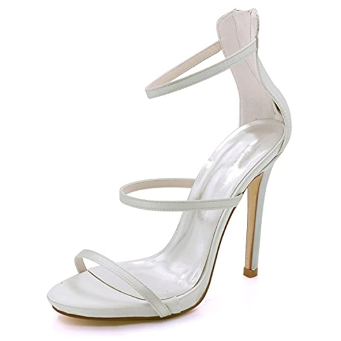 Scarpe E Borse Da Donna Col Tacco Elobaby Sposa Tacchi Alti Chunky Autunno Gattino Peep Toe Ivory Fashion 11 5cm Heel