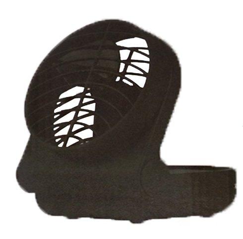 Tragbarer Ventilator mit Klappfunkition 12, 5cm schwarz batteriebetrieben klappbar schwenkbar Camping Kü hler Raum-Lü fter Luft-Erfrischer Lü ftung