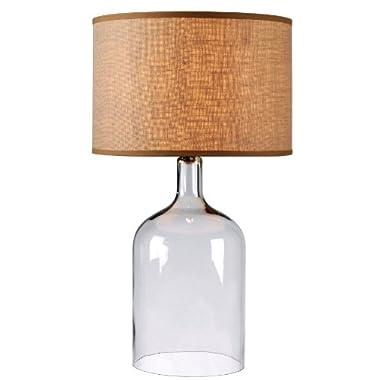 Kenroy Home 32261CLR Capri Table Lamp, Clear Glass Finish
