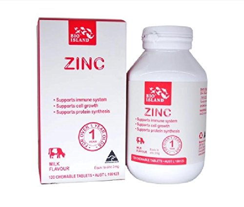Bioisland Zinc for kids 120 Chewable Tablets with 1PCS Chinese Knot Gift Made in (Kids 120 Chewable)