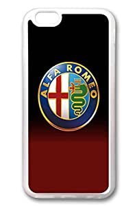 iPhone 6 Case, iPhone 6 Cases - Top Quality Clear Soft Case for iPhone 6 Alfa Romeo Car Logo Stylish Crystal Clear Rubber Case Cover for iPhone 6 4.7 Inches