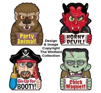 Funny Halloween Car Magnet Set -
