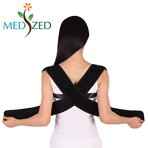 MEDIZED Posture Corrector Clavicle Support Brace, Medical Device to Improve Bad Posture, Thoracic Kyphosis, Shoulder Alignment, Upper Back Pain Relief for Men and Women (Style 1) by MEDIZED (Image #2)