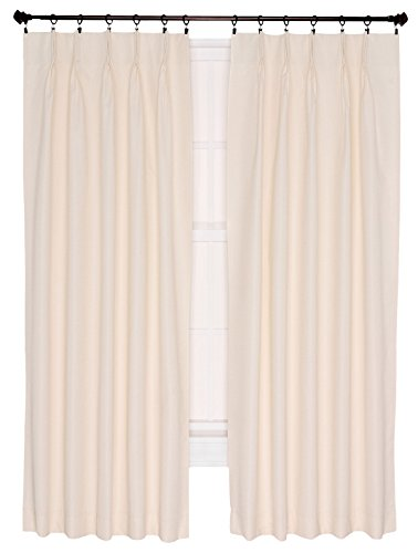 Ellis Curtain Crosby Thermal Insulated 96 by 84-Inch Pinch Pleated Foamback Patio Panel, Natural (Pinch Patio Pleat Panel)