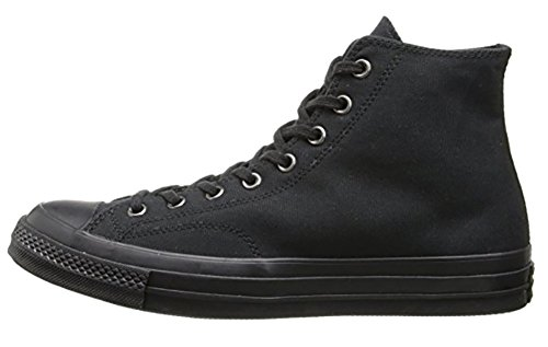 Converse Mens Chuck Taylor All Star 70 Hi Sneakers, Black Mono, 147070C (US 7 M)