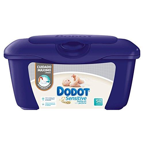 🥇 Dodot Sensitive – Caja de 54 toallitas para bebé