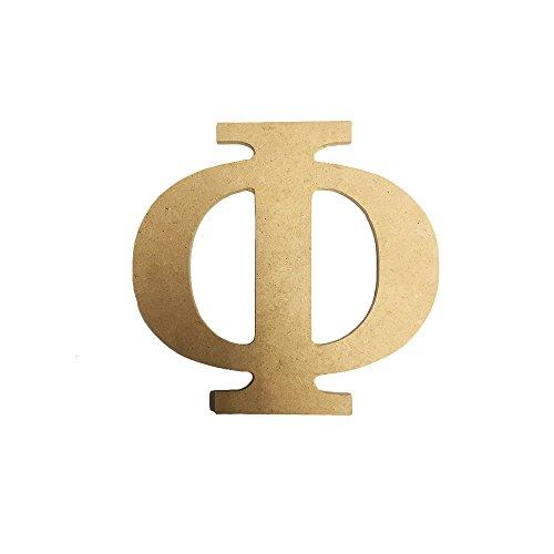 Phi Greek Letter (Phi 7.5 Inch or 12 Inch Greek Fraternity/Sorority Wood Letters (7.5