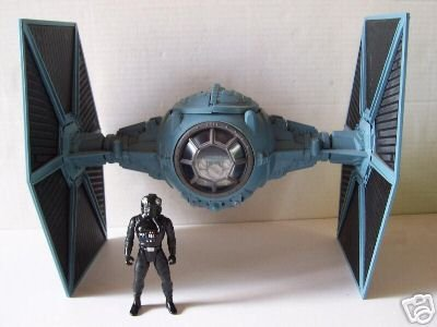 Larger Scale Wings (Star Wars Saga '06 Exclusive Vehicle TIE Fighter with Larger Scale Wings Variant Grey Color with Tie Pilot Action Figure)