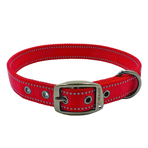 Max and Neo MAX Reflective Metal Buckle Dog Collar – We Donate a Collar to a Dog Rescue for Every Collar Sold