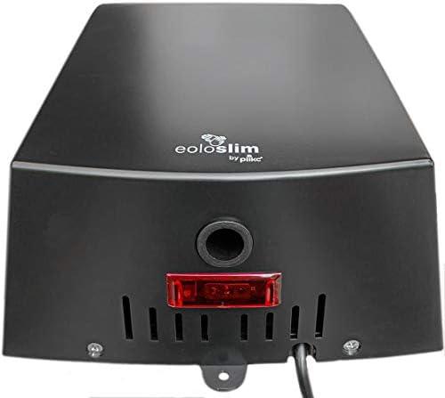 Nero plikc EOLO Slim Asciugamani Elettrico a fotocellula ultrapiatto in ABS azionamento