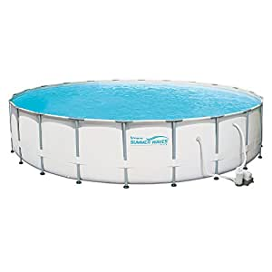 Summer waves elite 22 39 ft metal frame above - Summer waves pool ...