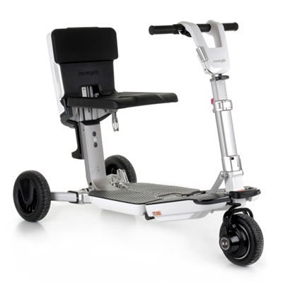 ATTO Folding Mobility Scooter by MovingLife, Full-Size Portable Electric Scooter for Adults, Lightweight Lithium Battery, Airline Approved
