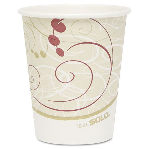Solo Cup Paper Hot Cups, Polylined, 10 oz., Symphony Design, 50/Pack (Box of