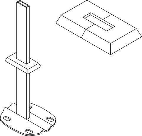 Viessmann Abdeckrosette für Standkonsole Standfüße Montage Fertigboden