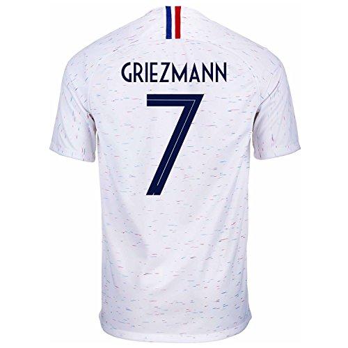 f2b6f473071 Nike Griezmann  7 France Away Men s Soccer Jersey World Cup Russia 2018 (M)