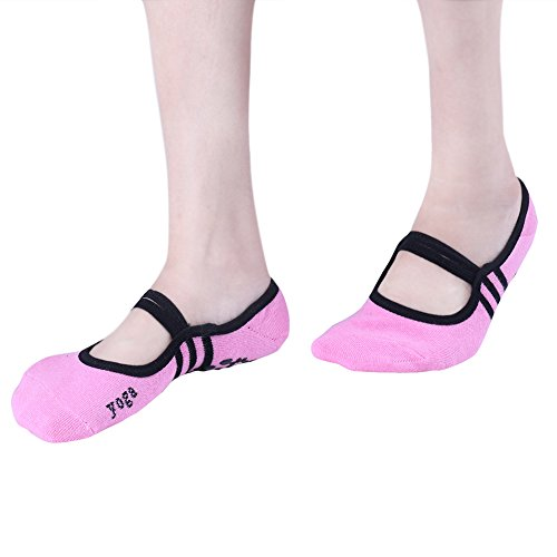 Amazon.com: IEFIEL Women Non-slip Socks Ballet Yoga Pilates Sock Exercise Massage Casual Socks Black One Size: Clothing