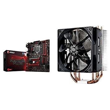 MSI Performance Gaming Intel 8th Gen Motherboard and Cooler Master Hyper  RR-212E-20PK-R2 LED CPU Cooler